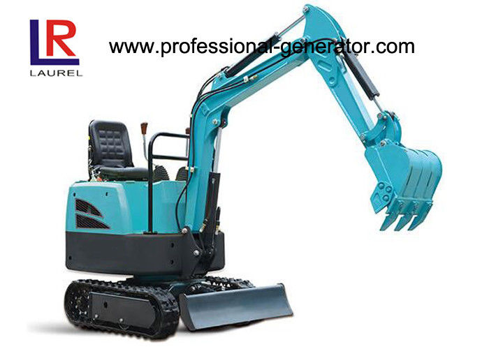 Flexible Movement 16MPa Rubber 7.4kw Mini Crawler Excavator