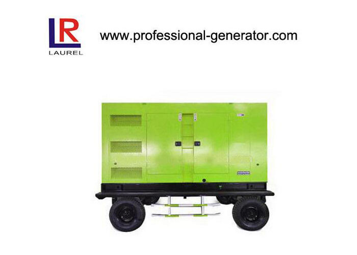 280kw Trailer / Silent Diesel Mobile Generator Water Cooled 280kw