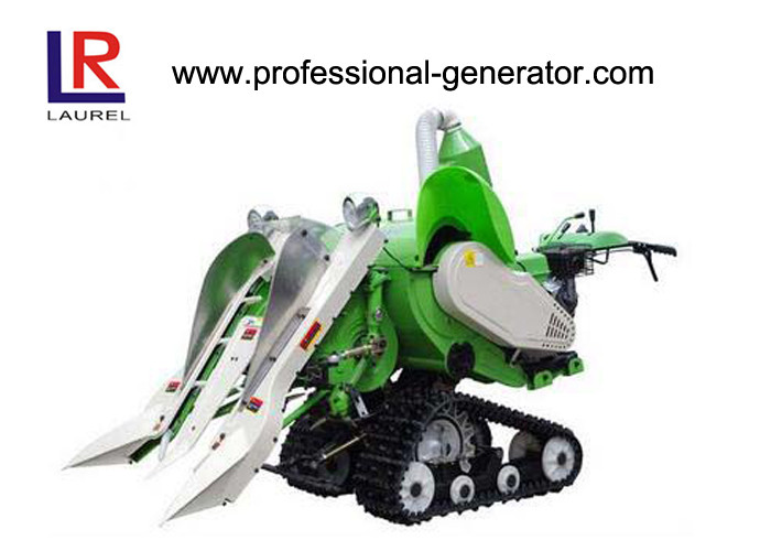 Self Propelled Rubber Tracked Small Agriculture Harvester For Wheat / Rice Harvesting
