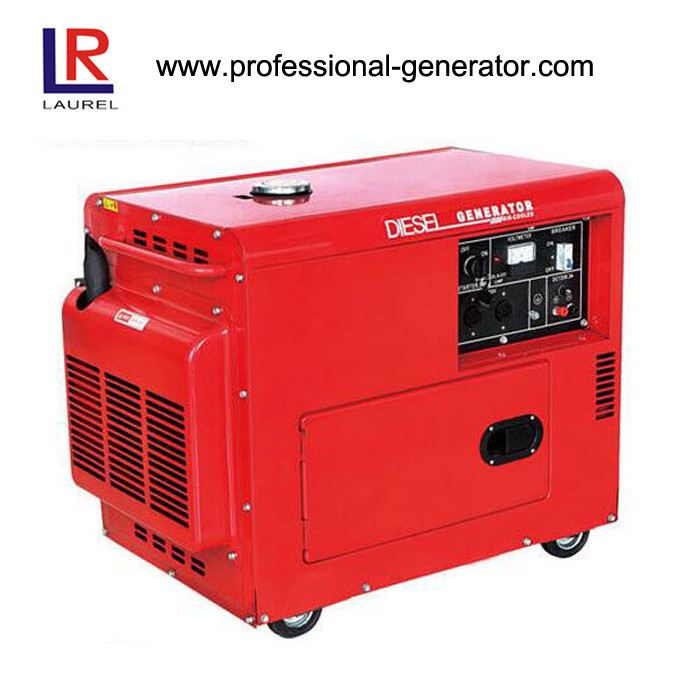 Small Silent Diesel Generator 4.2kW / 5 kW Low Fuel Consumption Single Phase Air-cooled