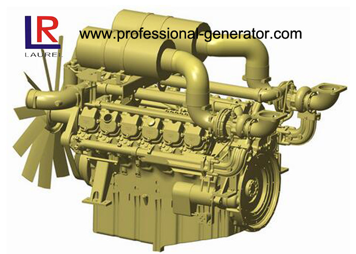 4 Stroke Industrial Diesel Engines for Generator with Electronic Governor , Fan blade