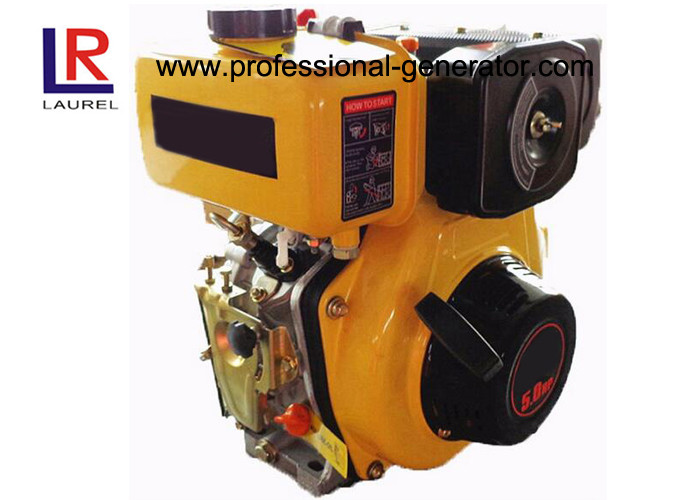 Air Cooled 4HP Single Cylinder Diesel Engine with Vertical Facing PTO shaft , Pressure Splashed