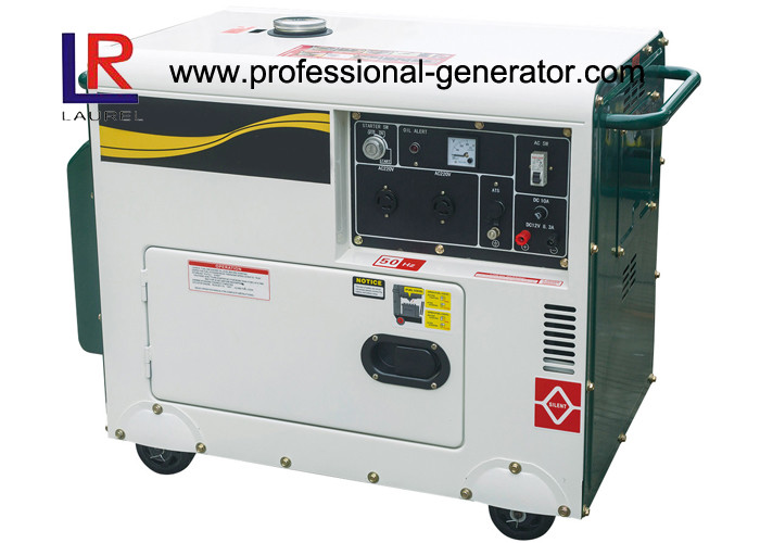 Silent Type 4.5kw Portable Diesel Generator with Electric Start Low Noise 10HP Engine
