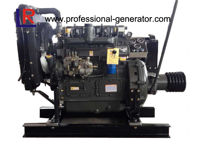 Water Cooled 41HP to 68HP Fixed Industrial Diesel Engines with 4 Cylinder 4 Stroke Electric Engine