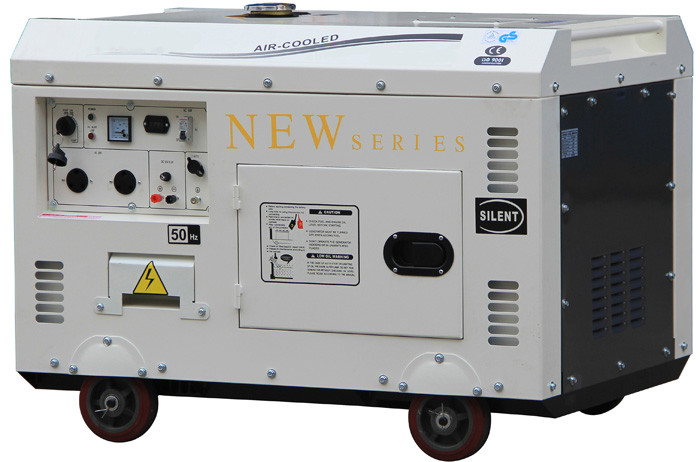 Soundproof Portable 8kVA Diesel Driven Generator , Electric Start Diesel Fuel Generator