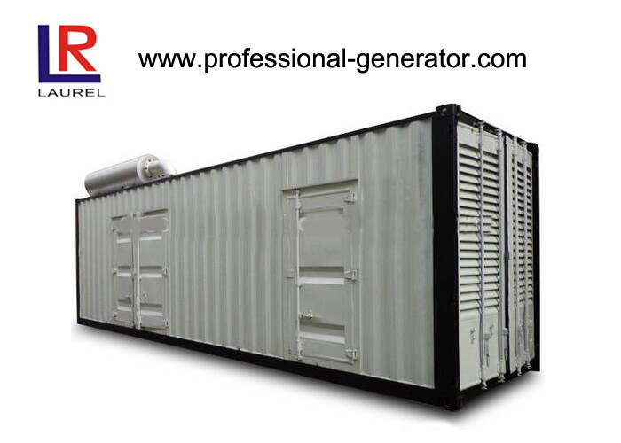 Self - exciting Container Genset 1200 kw Container Type Silent Diesel Genset