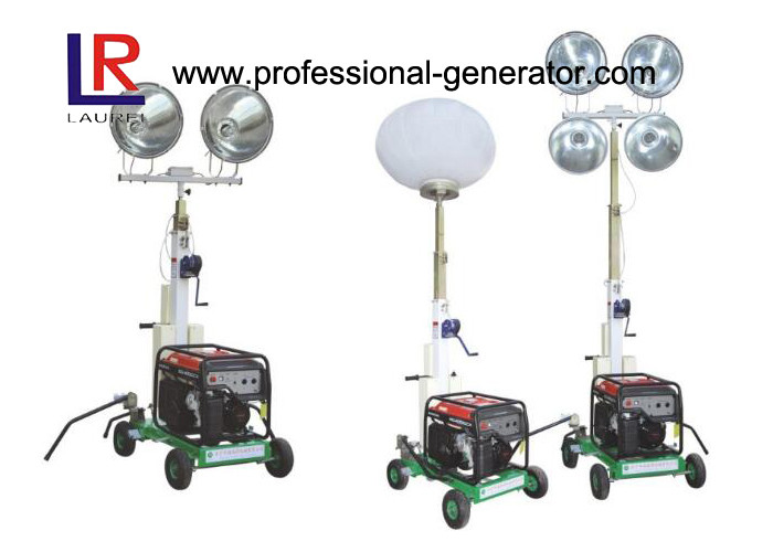 Handle Diesel Generator Balloon Project Light Tower with Direct Injection Diesel Engine