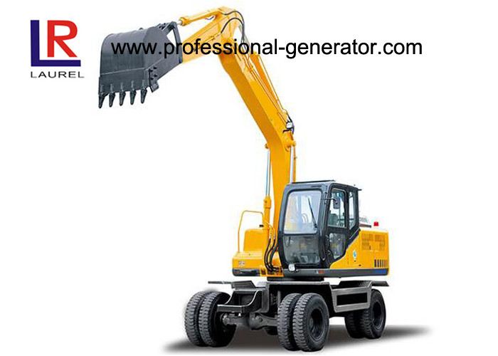 12.5 Tons Digging Wheel Excavator For Construction , 0.5cbm Vibratory Plate Compactor