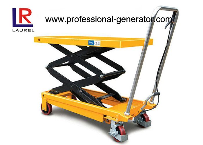 150KGS Double Scissor Lift Table CE 1.5 Ton Hydraulic Type Mobile With Rollers