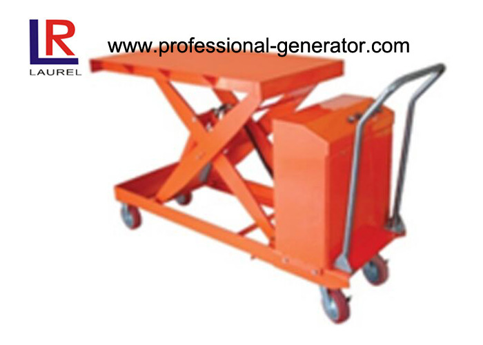 800W Warehouse Material Handling Equipment Mini Scissor Lift Table With Roller