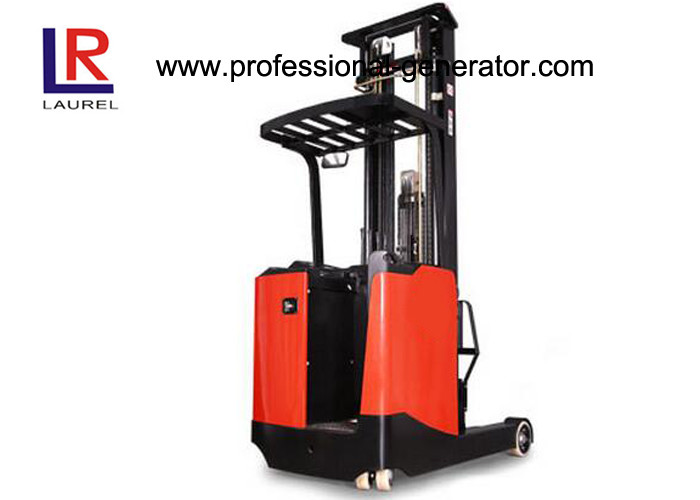 3 M Lift Height Warehouse Material Handling Equipment Electric Stand - Up Reach Forklift Truck