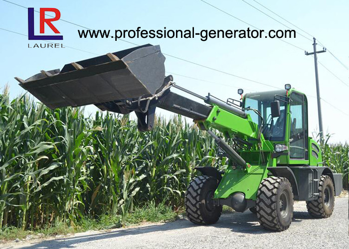 1 Ton Load Telescopic Boom Mini Wheel Loader With 37kW Yunnei Engine