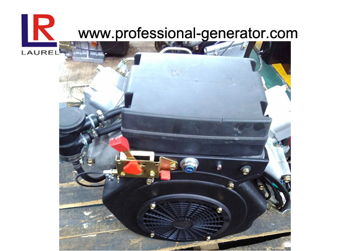 Electric start Small 22HP Twin Cylinder Diesel Engine with 4-stroke