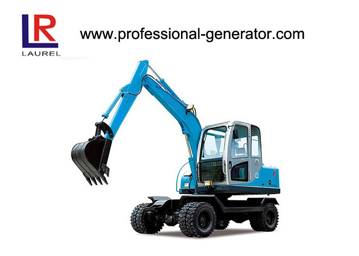 50kw 2200rpm Wheel Excavator with 45KN Digging Force ,16Mpa Overdrive Pressure
